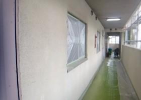 廊下壁・天井塗装 BEFORE